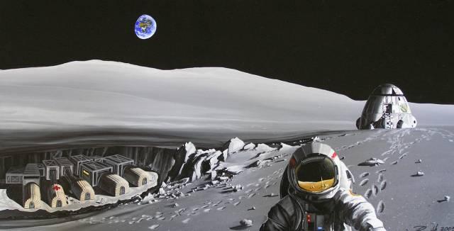 NASA představila plán pro vybudování stálé základny na Měsíci.