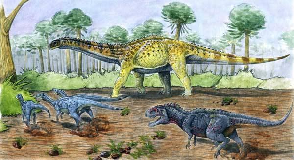 Největší dinosauři Austrálie Rekord se posunul o sedm metrů. Nález zkamenělých kostí dvou titanosaurů poblíž města Eromanga v jihozápadním Queenslandu oznámil zdejší farmář již v roce 2005.