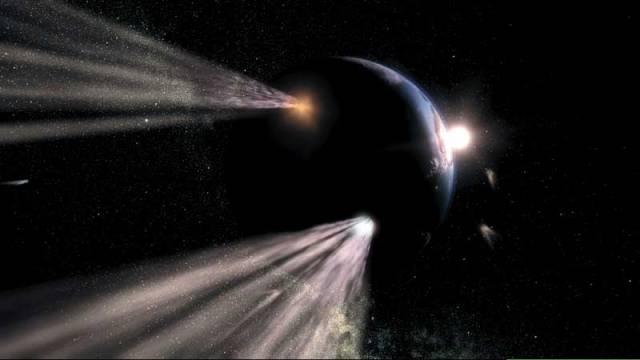 Planeta Země neputuje vesmírem osamoceně. Čas od času se do její dráhy připlete asteroid, planetka nebo kometa. Jaké následky může mít takový střet pro život na planetě?