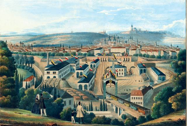 K našemu hlavnímu městu neodmyslitelně patří Masarykovo nádraží, historicky první v Praze, pokud jde o parostrojnou železnici. Jeho umístění a kolejiště navrhl roku 1842 ing. Jan Perner. Pozdně klasicistní stavba se dvěma věžemi byla postavena v letech 1844 –1845 podle projektu ing. Antonína Jünglinga. V roce 1919 nádraží dostalo pojmenování po 1. československém prezidentovi T. G. Masarykovi.