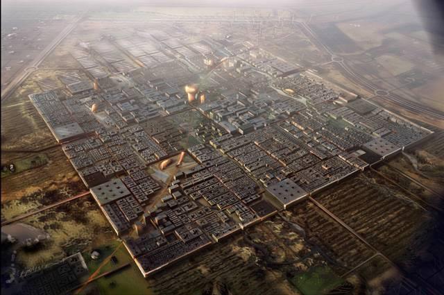 Město Masdar City aspiruje na to stát se nejdokonalejší komunitou s udržitelným rozvojem na světě. Je budováno 17 km od hlavního města Spojených arabských emirátů Abu Dhábí.