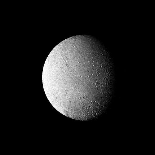 Saturn - High-resolution Filtered Image of Enceladus