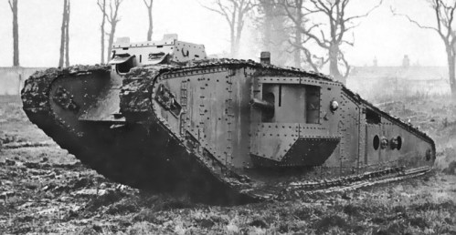 Masové nasazení tanků – bitva u Cambrai