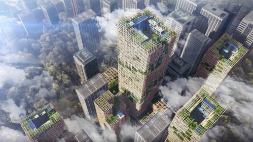 Dřevěný mrakodrap? Japonská firma takový navrhla.
