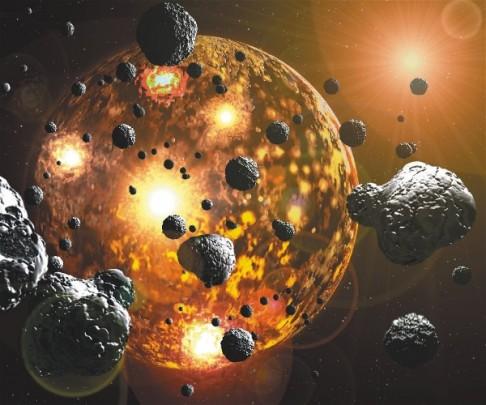 Zlatá sprcha před 4 miliardami let