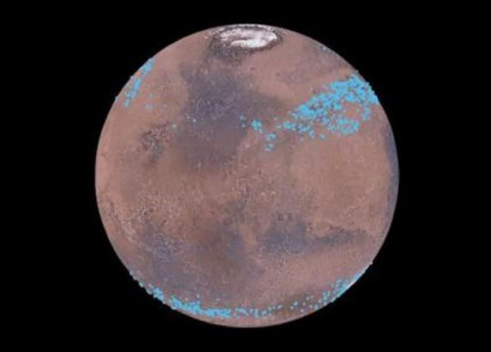 Mars - ledovce