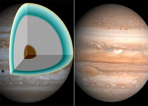 """Proč se Jupiterovo jádro """"scvrklo""""?"""