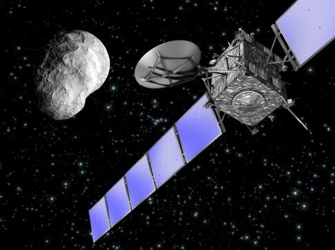 "Krátké ""rande"" asteroidu se sondou"