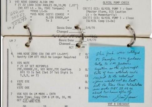 Hustone, vydražte zápisník z Apolla 13