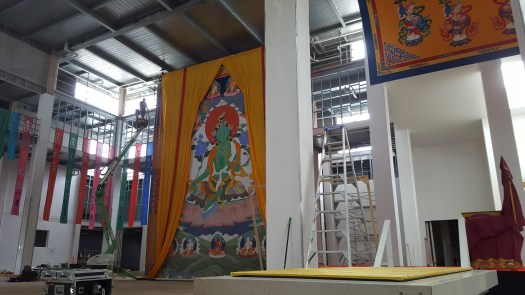 Installation at Great Stupa