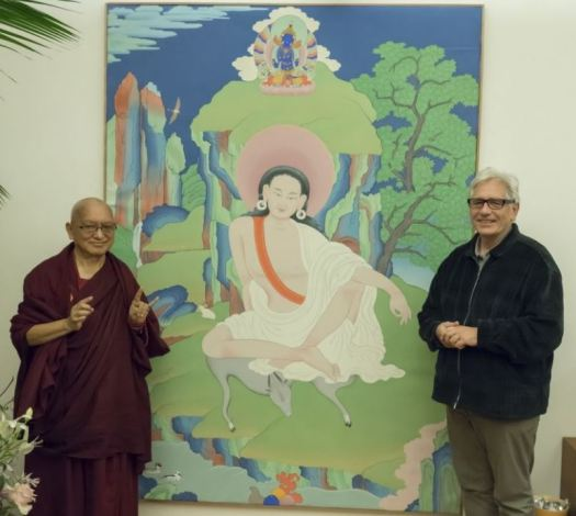 Artist and Rinpoche