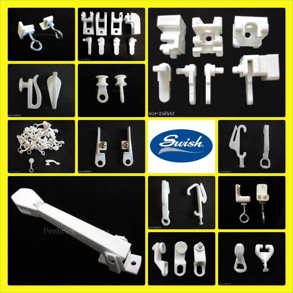 swish curtain track parts gliders end stops brackets hook tension pulley joiner
