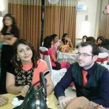 Nandini Roy with her brother