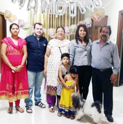 Nandini Roy with her family