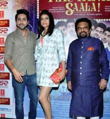 Ayushmann with is wife and father