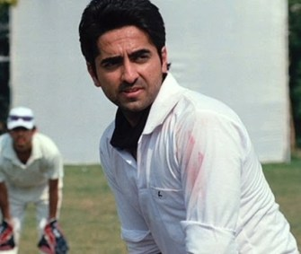 Ayushmann playing Cricket