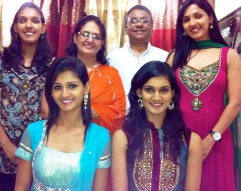 Justice Mohan with his parents and sisters