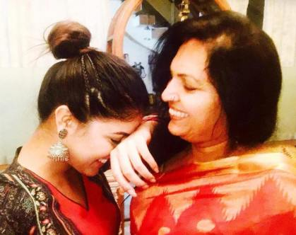 Wamika Kappi with her mother