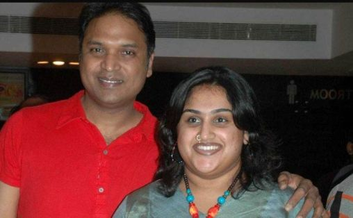 Vanitha Vijayakumar With Her Husband Anand Rajan