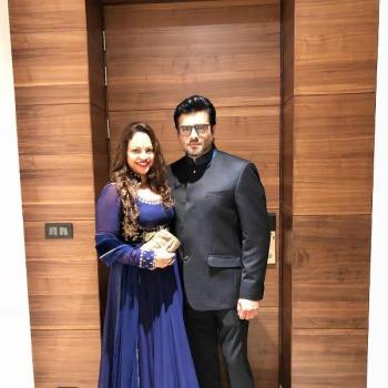 R. Madhavan with his wife