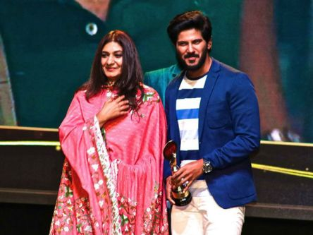 Dulquer Salmaan with his mother