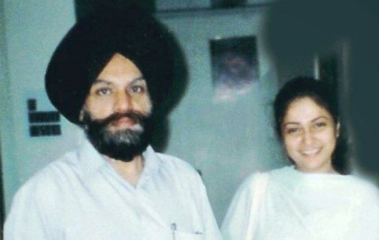 Gracy Singh with Her Father