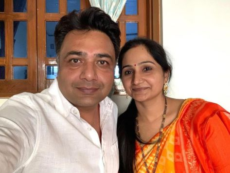 Hemant Kher with his sister