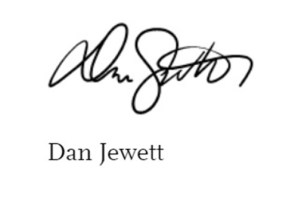 Signature of Dan Jewett