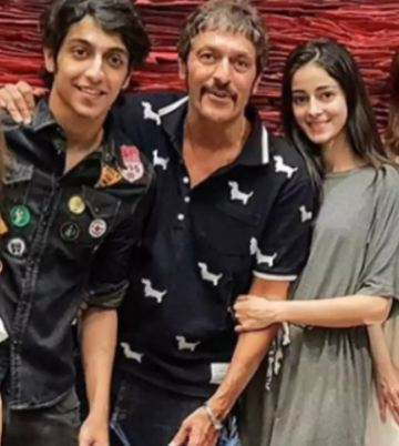 Ahaan Panday with Chunky Pandey and Ananya Panday