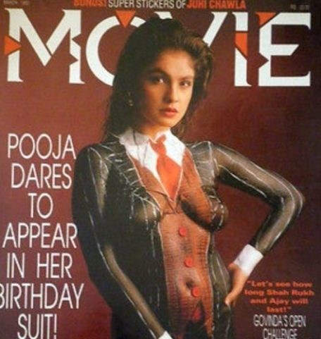 Pooja Bhatt featured on a magazine cover with body paint