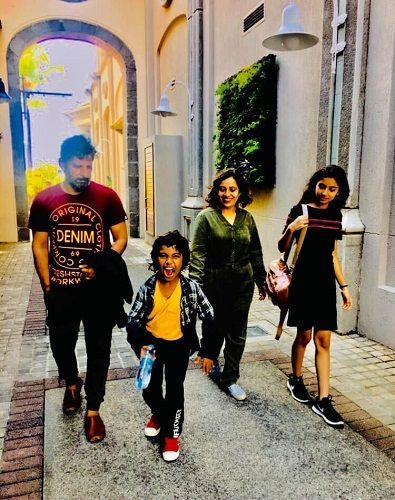 Sara Arjun with her family