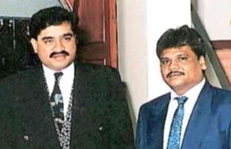 An old picture of Chhota Rajan with Dawood Ibrahim