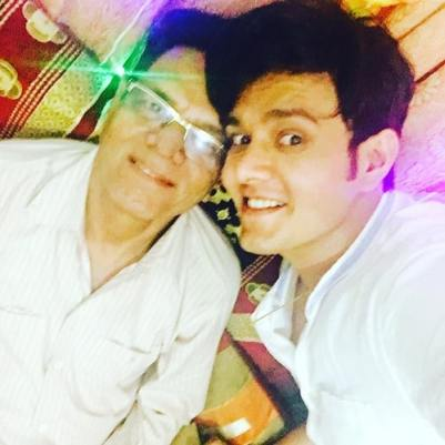 Aniruddh Dave with his father