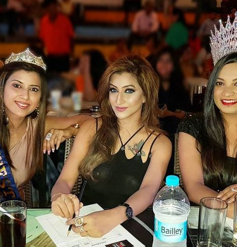 Roshni Kapoor as a judge at a beauty pageant