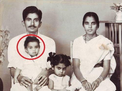 TNR's childhood picture with his family