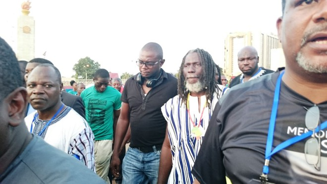 Tiken Djah Fakoly à la marche