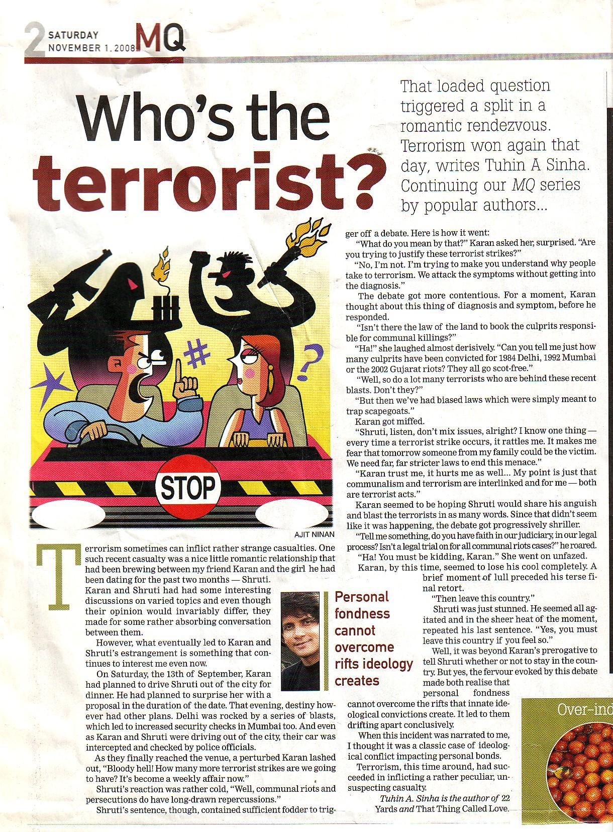 MQ, TOI Supplement, 1st November, 2008