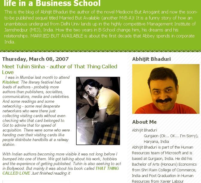 Abhijit Bhaduri interviews Tuhin A. Sinha -Part 1