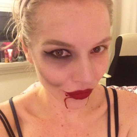 Vampire makeup trial run