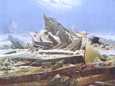 Caspar David Friedrich, La Mer de glaces (confondu à tort avec Le Naufrage de l'Espoir).