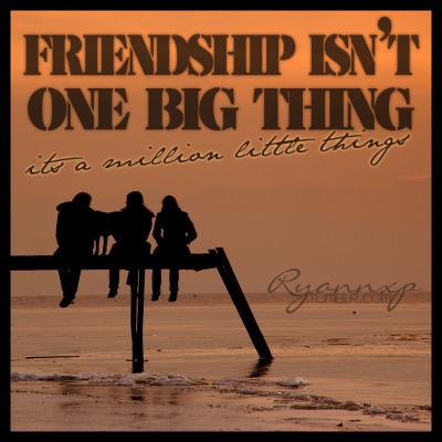 Friendship Isn't One Big Thing
