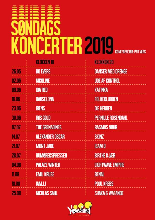 Nemoland Søndagskoncerter 2019
