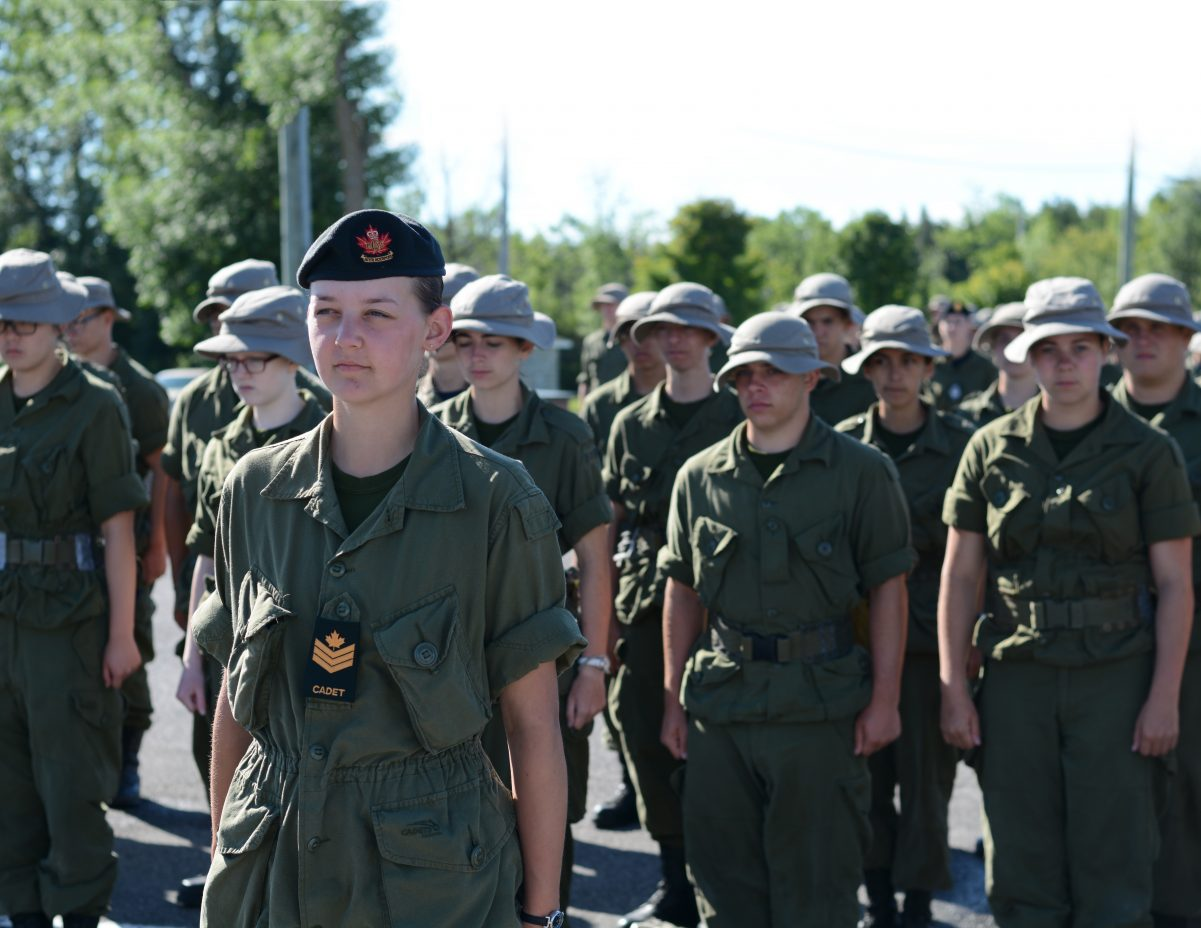 Female Sgt Formed Up Platoon