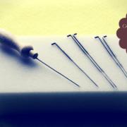 Trockenfilzen mit Nadeln