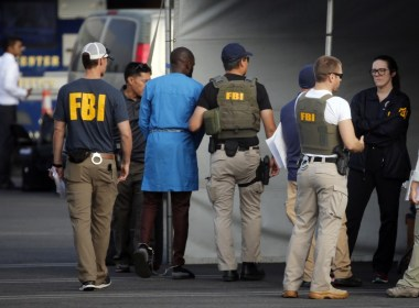 Image of FBI officers used to illustrate the story