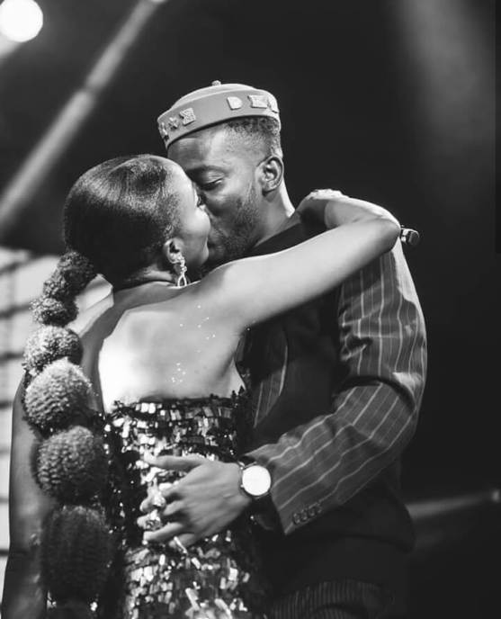 """Your Love Is Overwhelming In The Best Way"" – Simi Kisses Adekunle Gold On Stage"