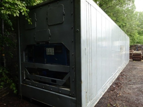 40 ft Long 8 ft Wide Grey Steel Refrigeration / Refrigerated / Reefer Container Second Hand (ref 2241) - Store From Ainscough Metals