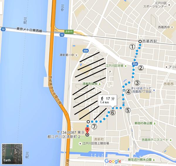 江戸陸へのアクセス