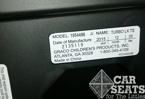 Etonnant Graco Car Seat Expiration Date Location Best 2018