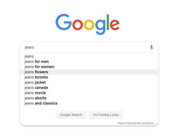 Using Google search for keyword research